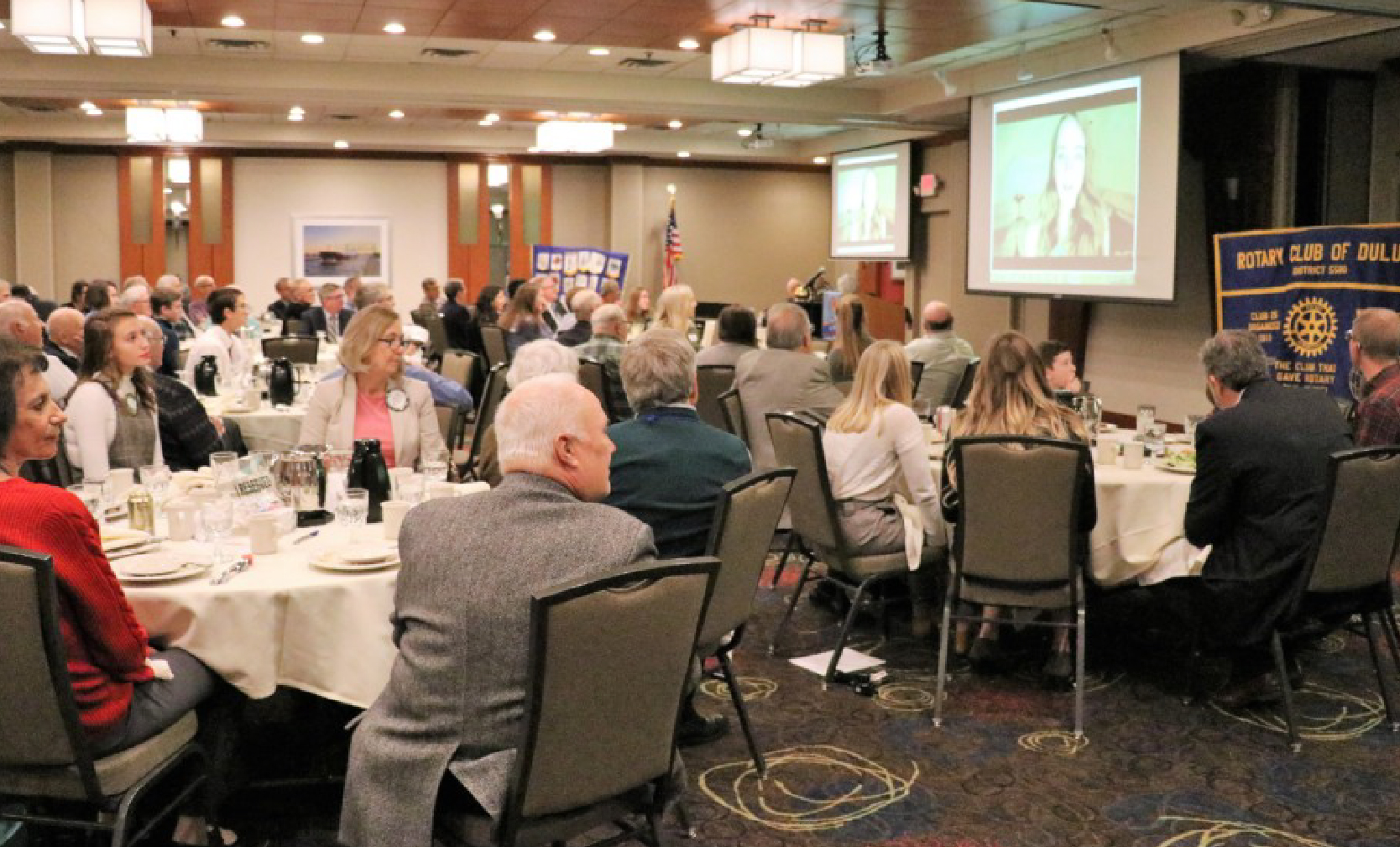 Picture of the Rotary Club of Duluth banquet