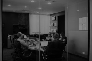 Picture of a group of people in board room