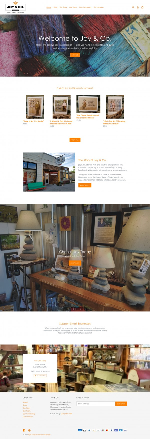 Picture of Joy & Co., Grand Marais MN Homepage