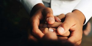 Picture of someone holding hands tightly
