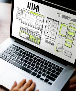 laptop showing website mockup