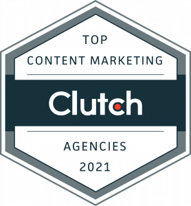 top content marketing 2021 awarded by clutch